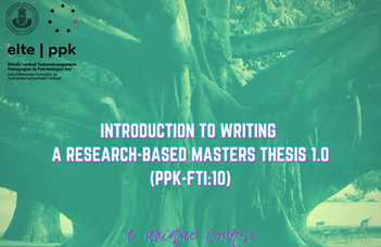 Introduction to writing a research-based masters thesis